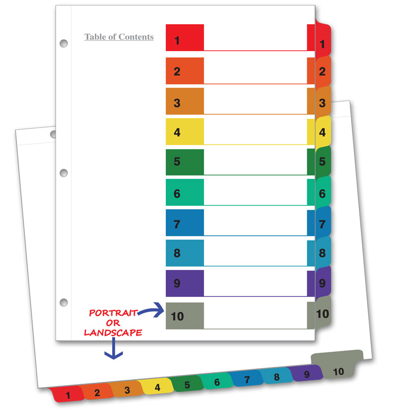 avery index tabs template - avery 10 tab color template zeehelper