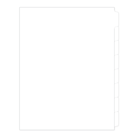 81188 Avery Style Legal Divider Letter Size Side Tab Blank