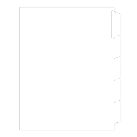 91205 Allstate SP11BLANK25M Style Legal Divider Letter Size Side Tab Blank
