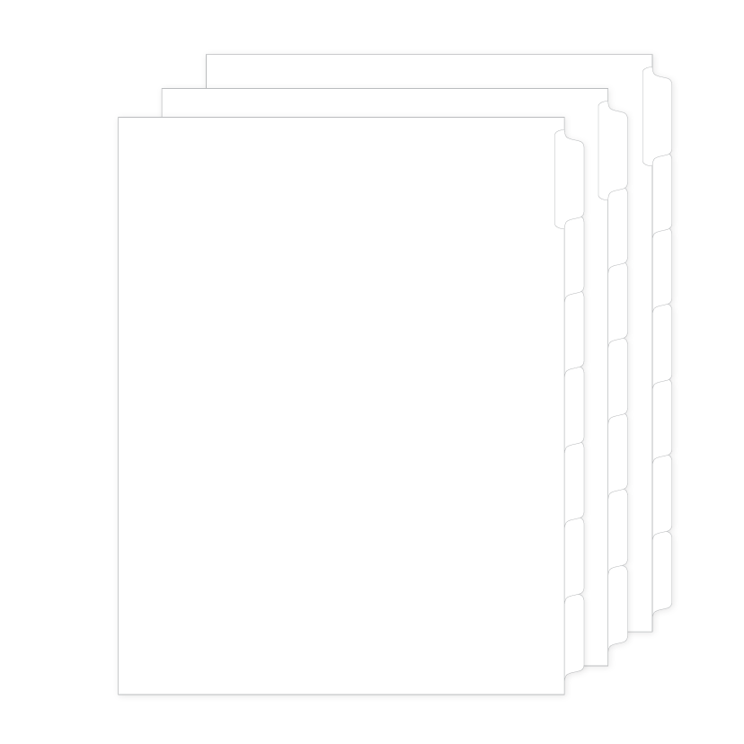 97777 Allstate EDBR11S Style Legal Divider Letter Size Side Tab Blank